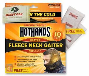 Mossy Oak Heated Neck Gaiter HotHands Warmers Pro Grade Fleece Protection Camo