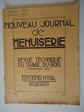 Nouveau Journal de Menuiserie/Revue Technique du Travail du Bois/n°4 1953