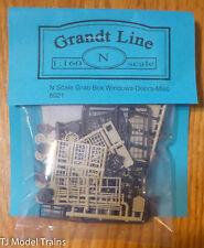 Grandt Line #8021 Grab Bag of Windows & Doors/Misc parts (N Scale)
