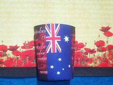 POPPY FLAG STUBBY COOLER OR HOLDER  - REMEMBRANCE DAY NOVEMBER 11TH