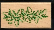 PINE BRANCH LIGHTS STRAND Lasting Impressions D242 1995 wood Hobby RUBBER STAMP