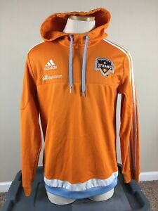 Authentic Adidas Climacool Houston Dynamo MLS Hoodie Sweatshirt Men's Size M