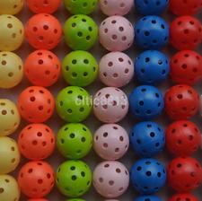 Useful 20pcs Hollow Plastic Practice Golf Ball Wiffle Balls Small Ball UK
