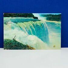 Postcard vintage post card ephemera vtg Niagara Falls Canada horseshoe american