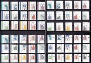 BERLIN Sehenswürdigkeiten  Eckrand, 4 x 15 Werte,  postfrisch, Ecke 1, 2, 3, 4