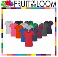 2XL Fruit of the Loom Plain Lady Fit Long Sleeve T-Shirt Top3 COLOURSXS