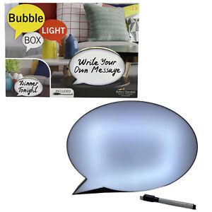 Handwriting Cinema Light Box Speech Bubble LED Dry Erase Message Light Up Sign