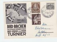 Germany 1954 Bad Aachen Riding Jumping and Tournament stamps card R20983