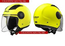 CASCO JET LS2 OF562 AIRFLOW YELLOW MATT GIALLO OPACO MIS. L 59 Cm VISIERA LUNGA