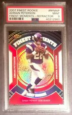 🔥 2007 Topps Finest Moments ADRIAN PETERSON Refractor Rookie RC PSA 9 Mint! 🔥