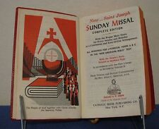 SAINT JOSEPH SUNDAY MISSAL COMPLETE EDITION AS DECREED BY VATICAN II RED DJ 1974