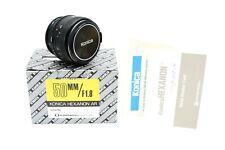 Konica Hexanon AR Tele 50mm 1:1.7 Objektiv Digital adaptierbar Autoreflex / NOS