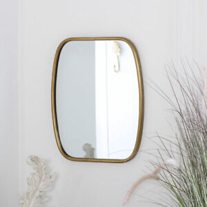 Rustic Gold Framed Mirror wall mounted metallic glamour luxurious home decor