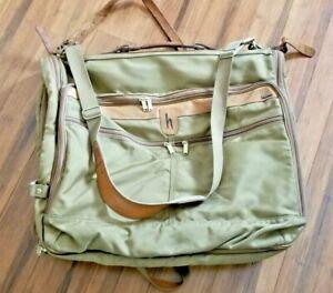 Vintage HARTMANN Luggage Nylon / Leather Garment Bag - FREE SHIPPING!