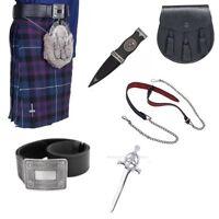 Pride of Scotland 5 Yard Budget Kilt Package with Belt, Sporran & Kilt Pin.