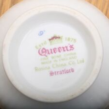 Queen's Fine Bone China Rosina Stratford Tea Cup Roses Made In England