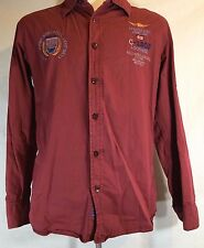 Adrexx S/M Men's Red Dress Shirt Italy Lockheed C-130J Spaceflight Airplang Boat