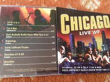 Chicago live 69 cd very good condition 60s 70s rock pop