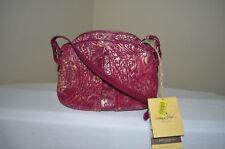 $139NWT Patricia Nash Metallic Italian Leather Overdye Lace Chania Crossbody Bag