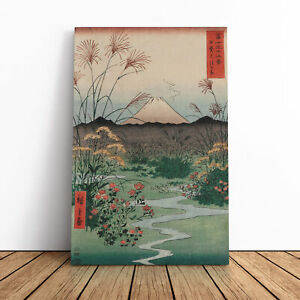 Hiroshige Japanese Oriental (2) Framed Canvas Print Wall Art Picture Large