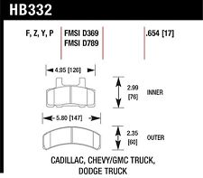 Hawk Performance HB332Z.654 Stable Friction Output Disc Brake Pads