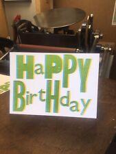 Letterpress Printed Happy Birthday Card