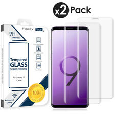 2-Pack Premium Tempered Glass Screen Protector Full Cover For Samsung Galaxy S9