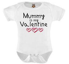 Personalised Baby Vest Mummy Is My Valentine Baby Bodysuit Cute Valentines Gift
