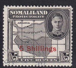 Somaliland 1951 5s on 5r Black SG135 - fine used