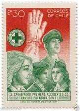 Chile 1974 #850 Campaña Nacional de Seguridad Transito Carabineros Police MNH