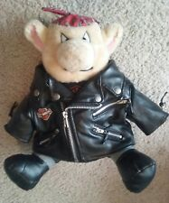 Love To Ride Motor Cycle Hog - Plush Stuffed Animal Pig - Harley Davidson Jacket