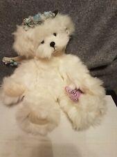 Annette Funicello 12 inch White Plush Angel Bear