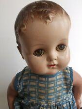 """Antique Arranbee R&B Baby Doll 18"""" Original Dress Sleepy Eyes Clothes Cloth Body"""