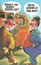 Vintage 1970's Bamforth COMIC Postcard (as new cond.) Nearest Boozer lad #501