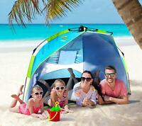 Beach Tents Pop Up Tent, 3 Person Camping Sun Shade Shelter Anti UV+Carrying Bag