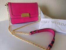 New Stuart Weitzman East SD Chain Wallet - Shoulder Bag -Magenta