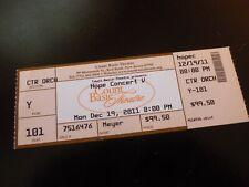 Hope Concert V 2011 Concert Ticket Stub Count Basie Theatre NJ Bonjovi Southside