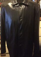 Men's Banana Republic Long Leather Coat XL Retail $398