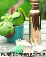 Pure Copper Water Bottle Ayurvedic Health Benefits Joint Free, Leak Proof 1000ml