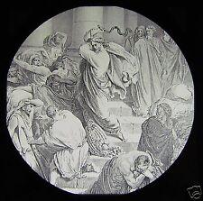 Glass Magic Lantern Slide JESUS IN THE TEMPLE C1910 CHRISTIAN RELIGION