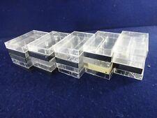 Lot of 25 Empty Hard Plastic Vintage Audio Cassette Cases Black & Clear Mix