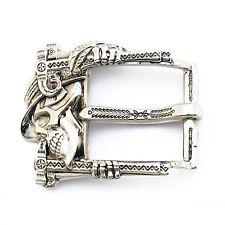 "Skull belt buckle ""Jolly Roger"", German silver frame buckle, Skeleton buckle,"