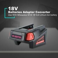 Adapter Converter Plastic Case for Milwaukee M18 Li-ion Battery to V18 RX