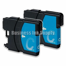 2 CYAN New LC61 Ink Cartridge for Brother MFC-495CW MFC-J410W MFC-295CN LC61C