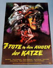 7 TOTE IN DEN AUGEN DER KATZE * JANE BIRKIN - A1-Filmposter EA -Ger 1-Sheet 1973