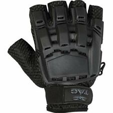 Valken V-Tac Half Finger Plastic Back Paintball or Airsoft Gloves - Black Xl/Xxl