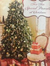 Unused Christmas Card American Greetings W/Envelope Parents Tree Presents
