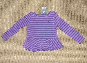 Ralph Lauren Girls Long Sleeve Striped Top - Size 4 - NWT