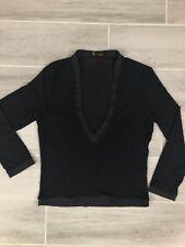 Fendi Women's Black Shirt Blouse Top .  . Size 40 Sheer Long Sleeve