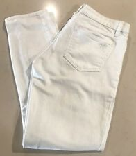 Tory Burch White Cropped Denim Jeans Size 25